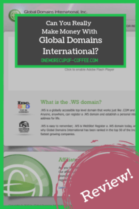 screenshot of the global domains international website