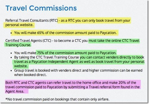 travel commissions