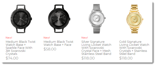 Watches from Origami Owl