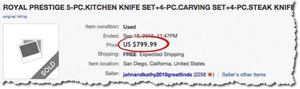 knife set ebay
