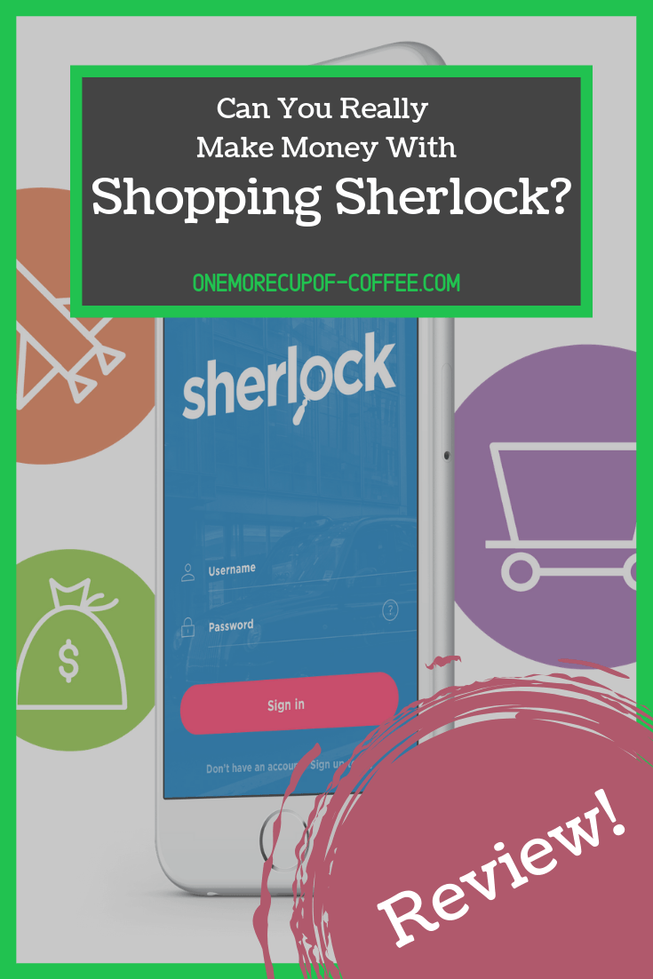 shopping sherlock home page screenshot with text title that says,