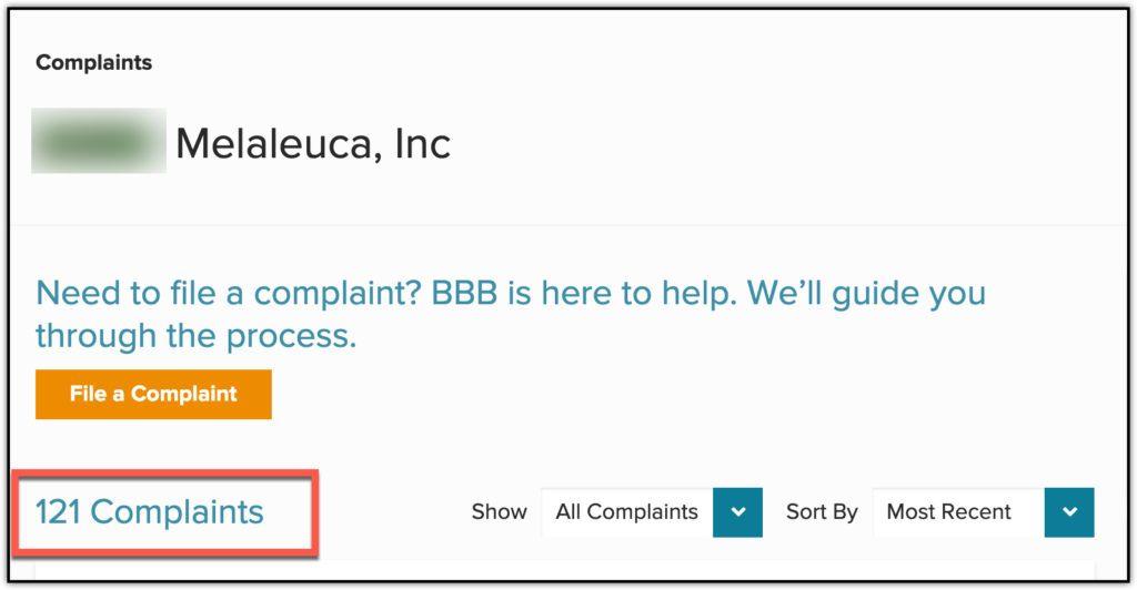 melaleuca complaints
