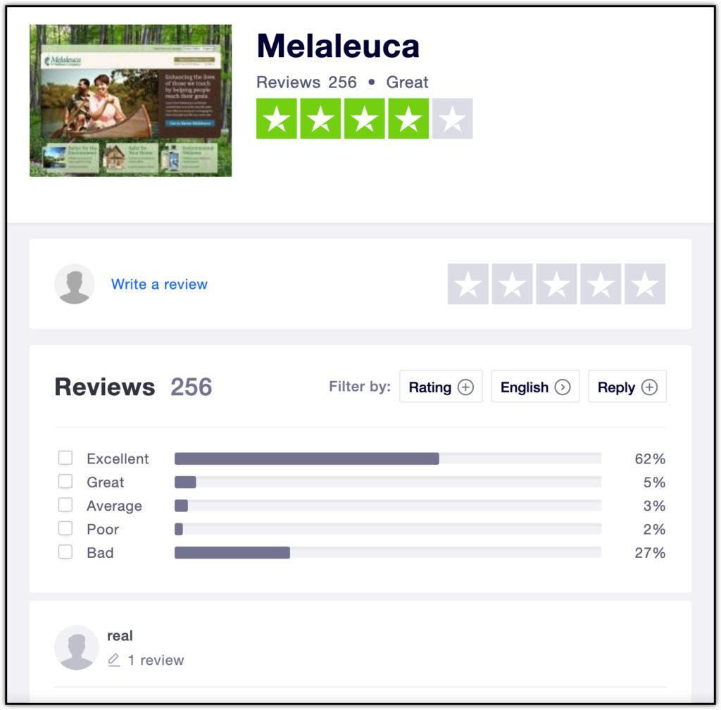 trustpilot melaleuca review