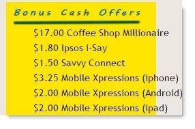 Bonus Cash Offers