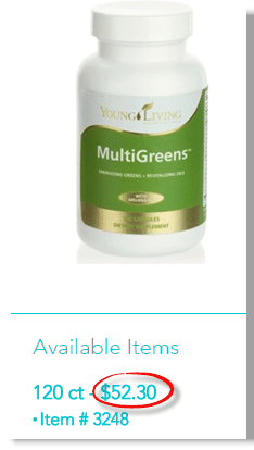 Pricing for MultiGreens