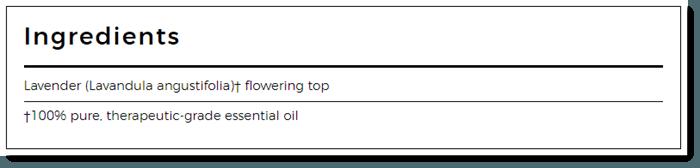 Ingredients List for Lavender Essential Oil
