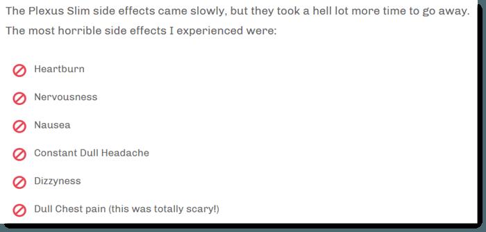 Plexus Slim Side Effects