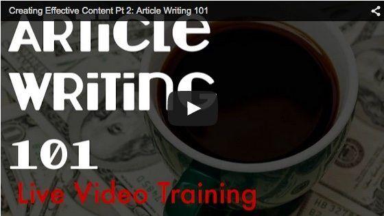article writing 101 big thumbnail