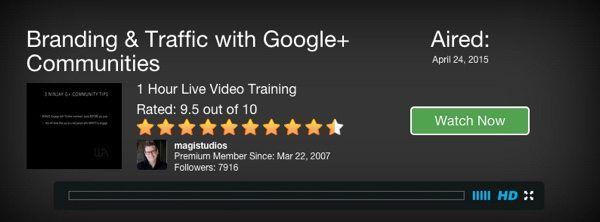 branding & Traffic with Google Plus Communities