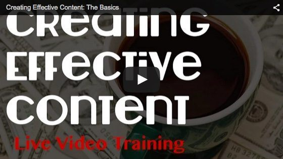 creating effective content life training