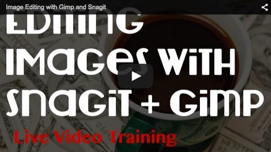 image editing with gimp and Snagit