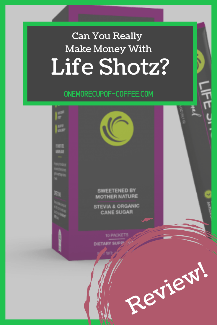 "life shotz product screenshot with text overlay, ""can you really make money with life shotz?"""
