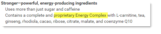 Proprietary Energy Complex