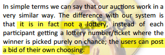 Not a lottery