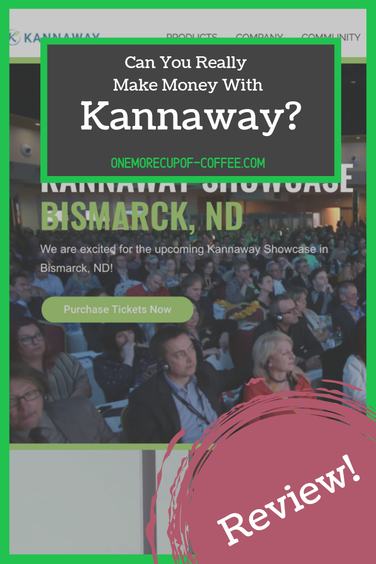"""screenshot of the kannaway website with text overlay, """"can you really make money with kannaway?"""""""