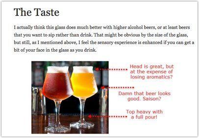 glassware comemntary