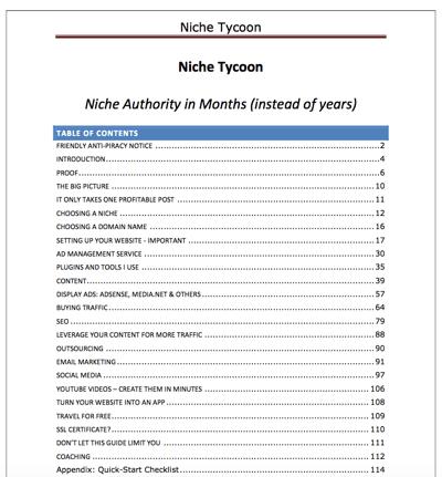 niche tycoon pdf preview