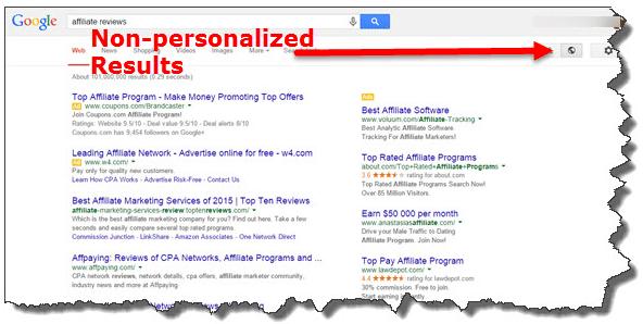 non personalized results