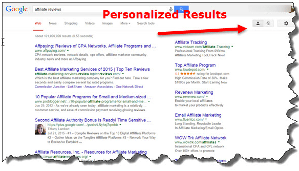 personalized results