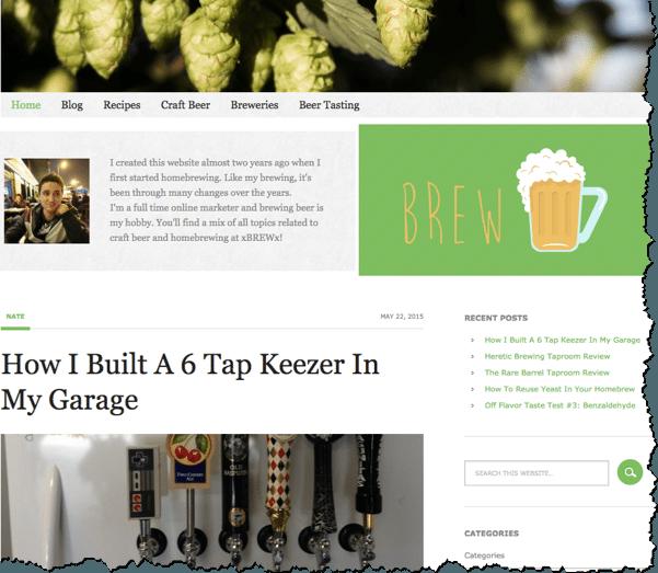 homebrew niche website