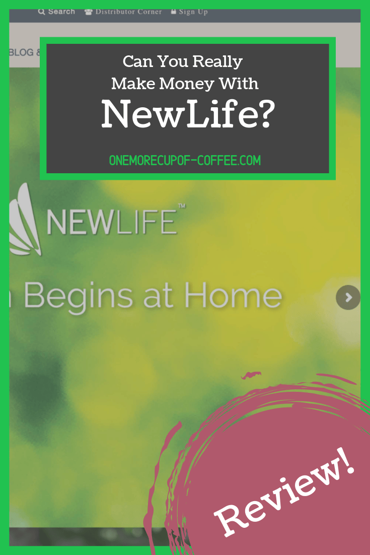 newlife mlm home page screenshot with title text,