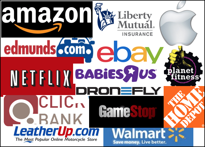 collage of popular affiliate programs including apple, home depot, and amazon