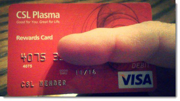 CSL Plasma donors Visa Card