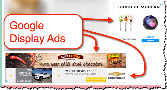 display ads food website 2