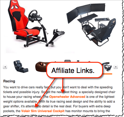 gaming chair affiliate links