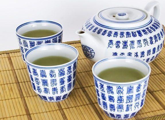 porcelain tea pot and cup set
