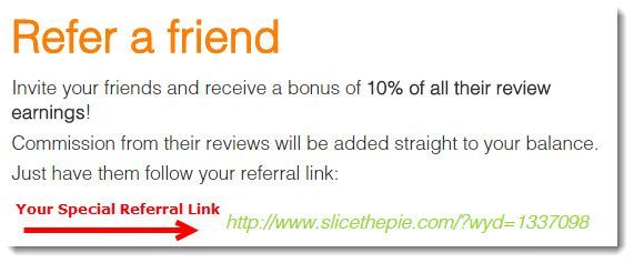 slice the pie referral program