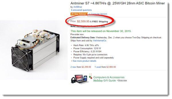 Bitcoin Miner on amazon