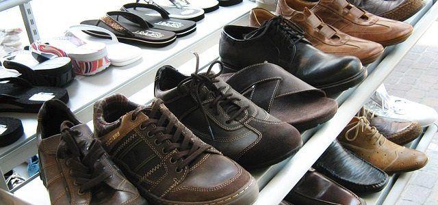 in store shoe rack