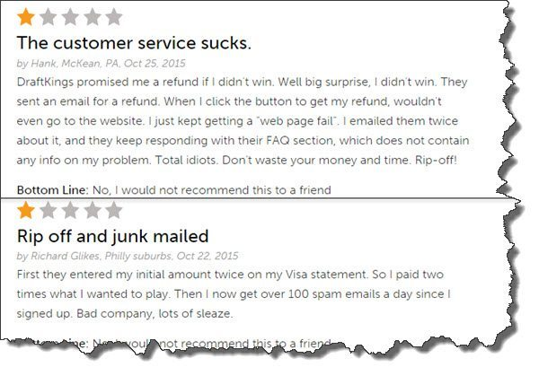 complaints against DraftKings