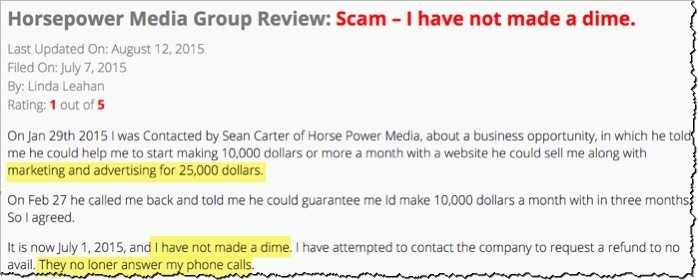 horespower media scam 25k