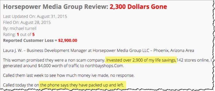horsepower media scam 3k