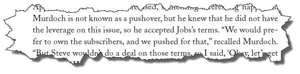 Excerpt from Steve Jobs biography