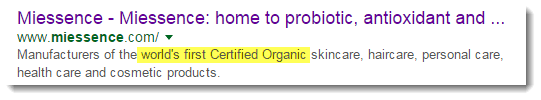World's First Certified Organic