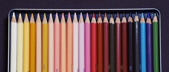 colored art drawing pencils