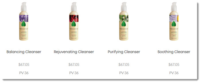 Cleansers from Miessence