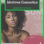 """motives cosmetics screenshot of home page with text layover that says, """"can you really make money with motives cosmetics?"""""""
