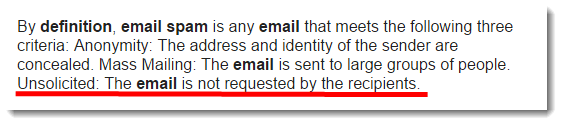 email spam definition