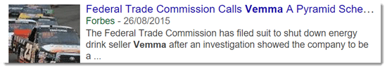 FTC calls Vemma a pyramid scheme