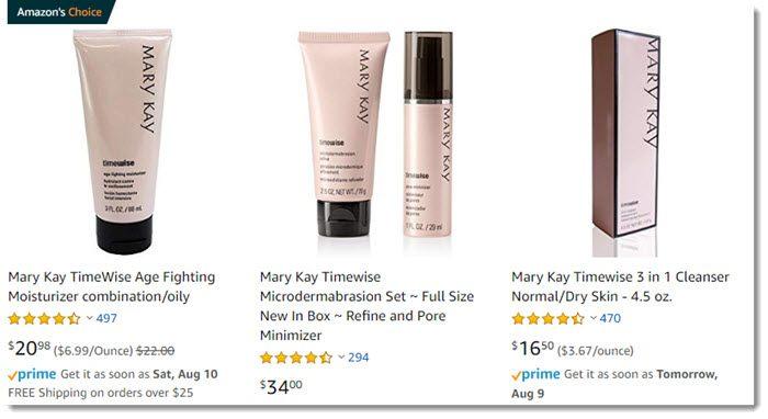 Mary Kay on Amazon