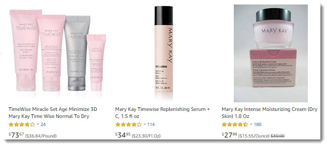 More Mary Kay On Amazon