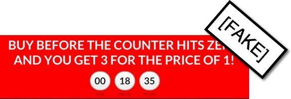 fake timer sales page