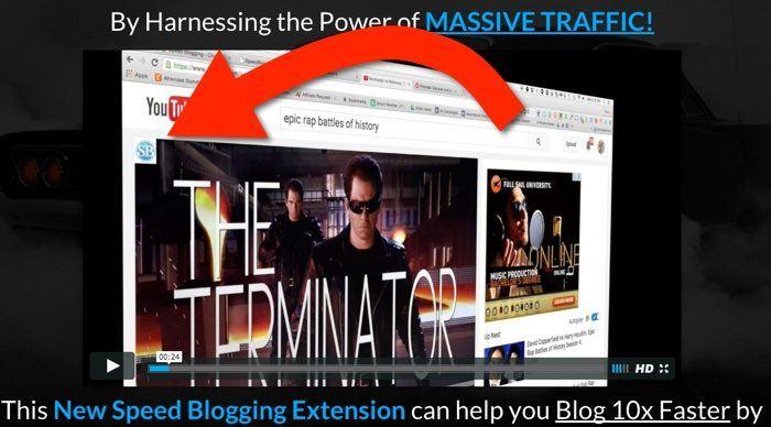 speed blogging screenshot