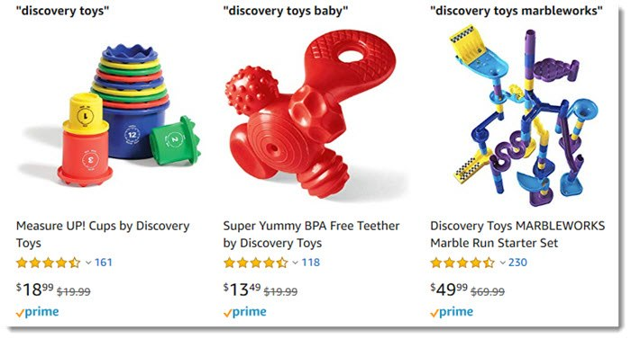 Discovery Toys on Amazon