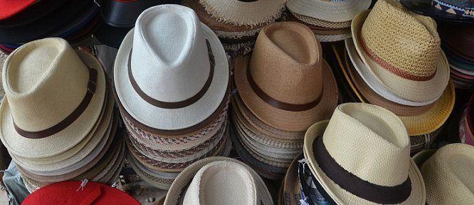 Stacks of fashion fedora hats
