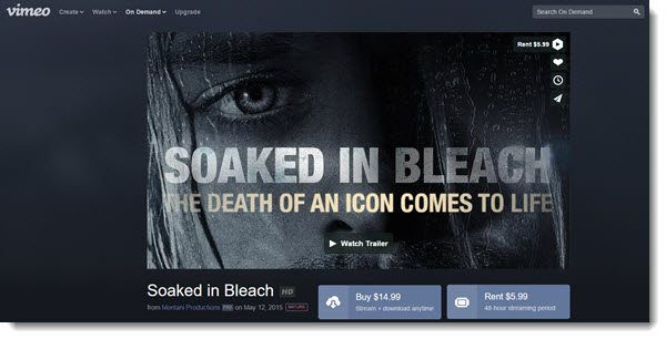 soaked in bleach on vimeo